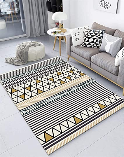 insun tapis de salon chambre style scandinave moderne design tapis deco rectangle antiderapant lavable style 24 130x190cm