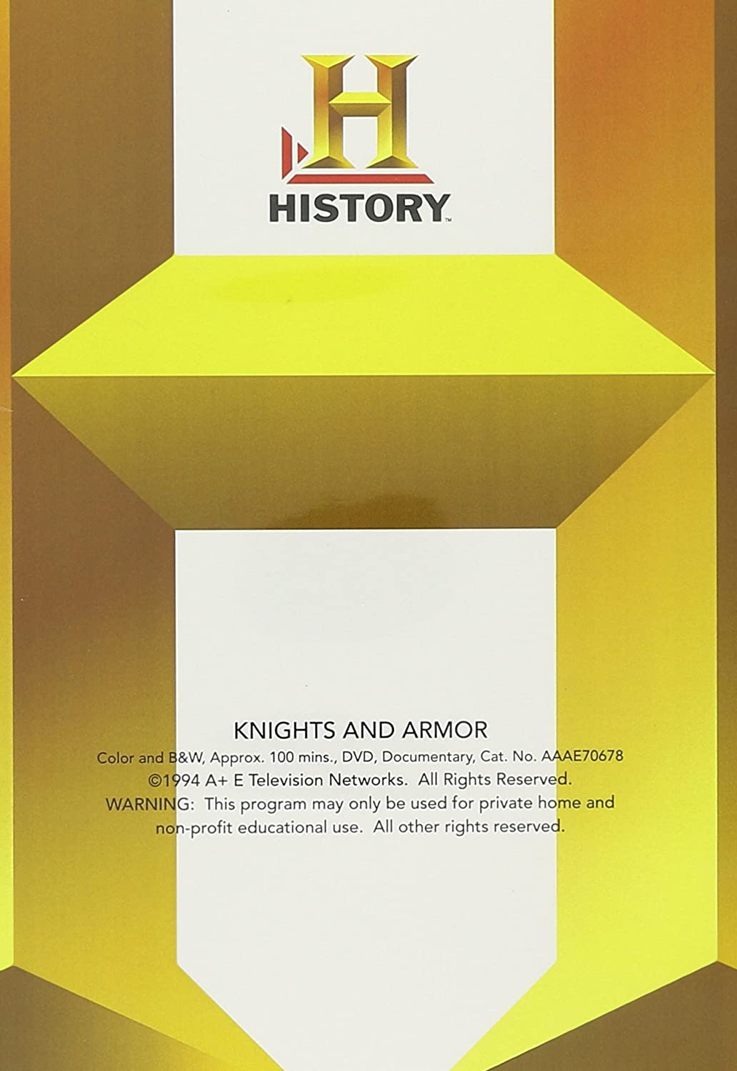 Extreem Amazon.com: Knights and Armor (History Channel) (A&E DVD Archives  #LZ62