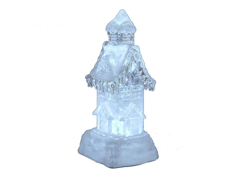 Formano Schneehaus Beleuchtet Aus Acryl Mit Wasser Gefullt 24 Cm