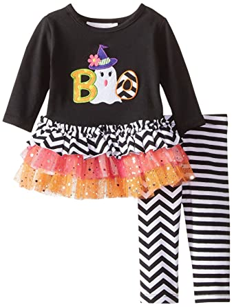 Amazon Bonnie Baby Baby Girls Ghost Boo Knit Set Clothing