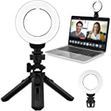 MUIFA 2 in 1 Video Conference Lighting Kit 3200k-6500K with Tripod & Clip on Laptop Zoom Meeting Light, Led Streaming…