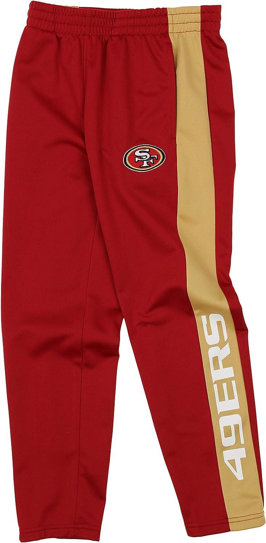 Carolina Panthe OuterStuff NFL Youth Boys Side Stripe Slim Fit Performance Pant