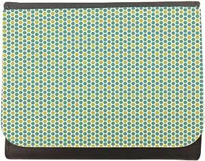 محفظة جلد  بتصميم زخرفة  خلية ملونة، مقاس 12cm X 10cm