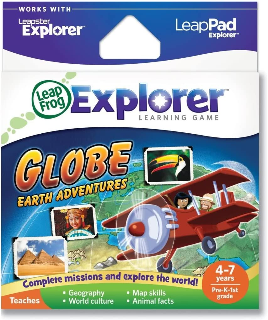 Toy / Game LeapFrog Explorer's Learning Game: Globe: Earth Adventures (works with LeapPad & Leapster Explorer)