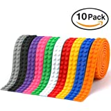 Building Block Tape Silicone Tape Compatible Self-Adhesive with Quality 3M Tape – 10 Rolls
