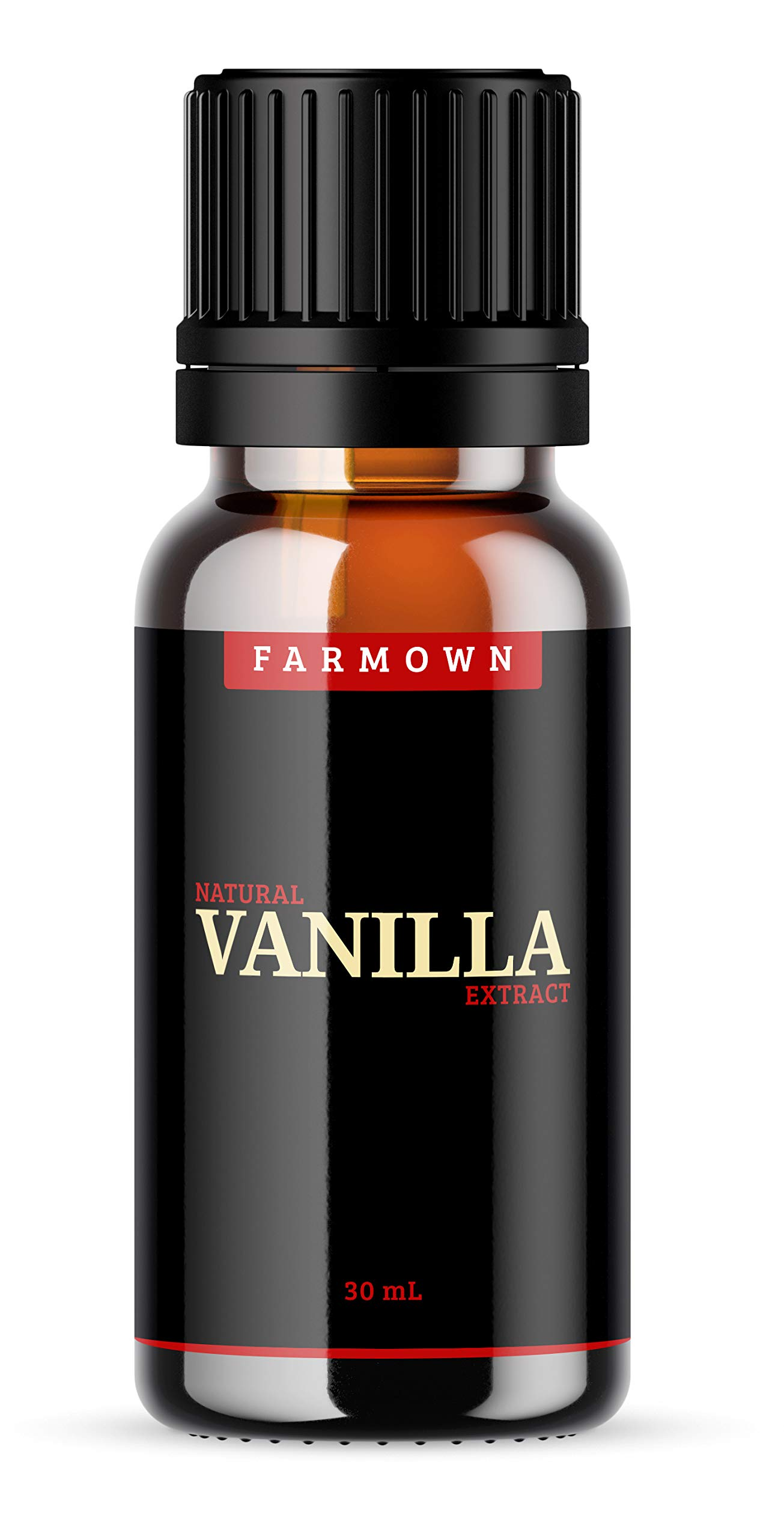 FarmOwn Natural Real Vanilla Extract 30 ml Essence for Cooking, Baking, Food, Milk, Ice Cream, Cake