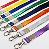 Three Legs 10 Colors 19 Inch Nylon Neck Lanyards Straps with J-Hook for ID Cards/Badges, ID Name Tag Badge Holder & other Portable Stuff and Keys, 10 Pieces (10 Colors)