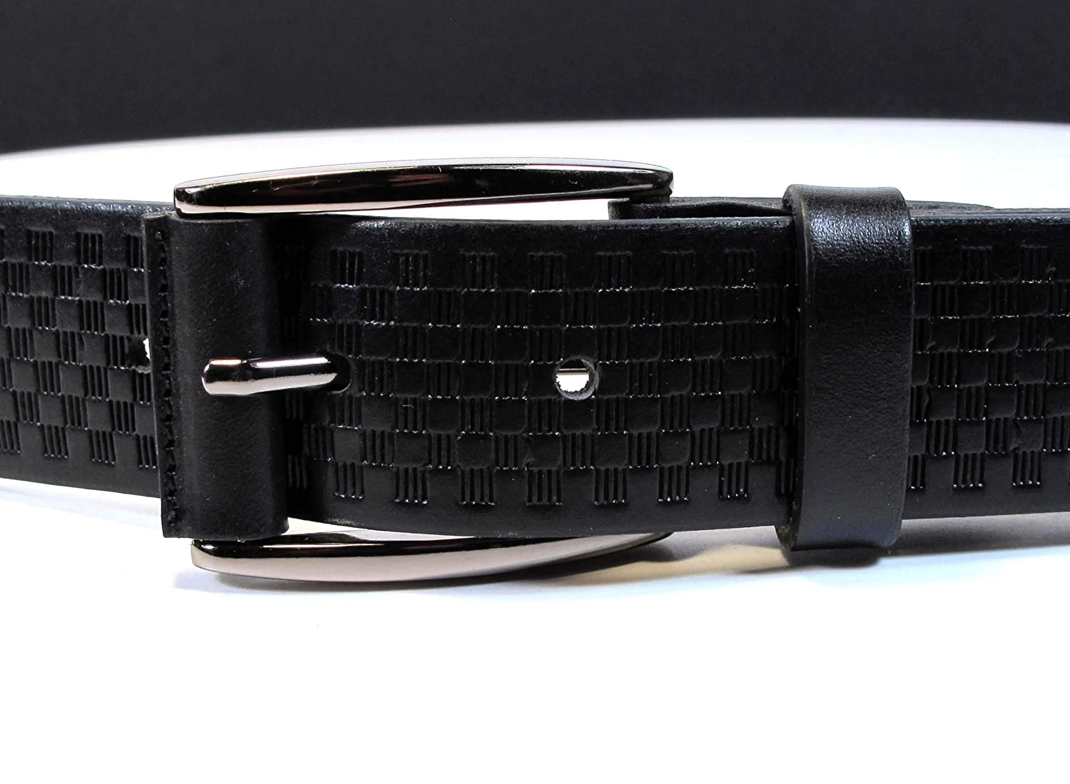 CW5 Womens Real Genuine Leather Black Belt 1.25 Wide S-XL Thick Long Casual Jeans