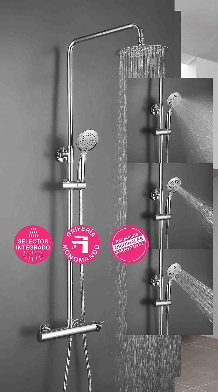 Columna de ducha monomando TOR de diseño redondo, tubo redondo ...