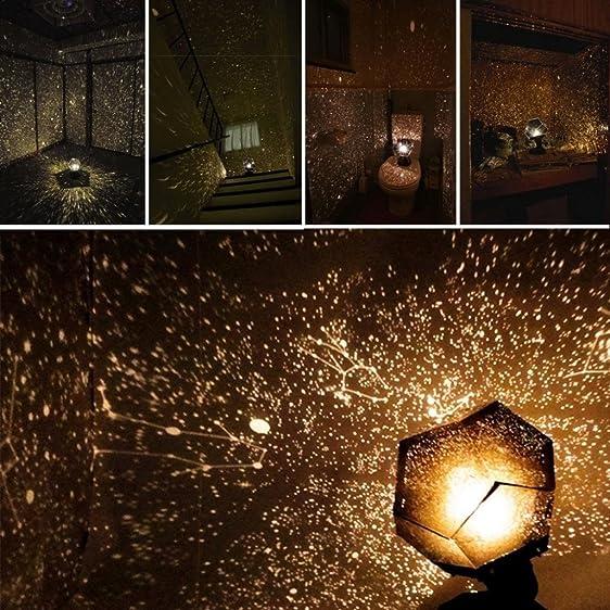 Galaxy Projector Ceiling Space Milky Way Stars Lamp DIY Scientific Game  (Black)