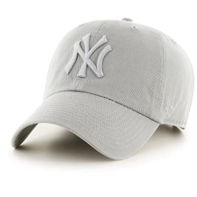 764acee0bd9 Image Unavailable. Image not available for. Color   47 York Yankees Clean  Up Dad Hat Cap Grey Tonal QS ...