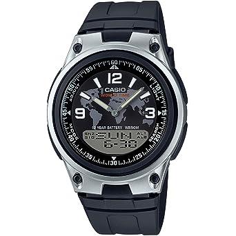 Casio Reloj Analógico-Digital para Hombre de Cuarzo con Correa en Plástico AW-80-1A2VES: Amazon.es: Relojes