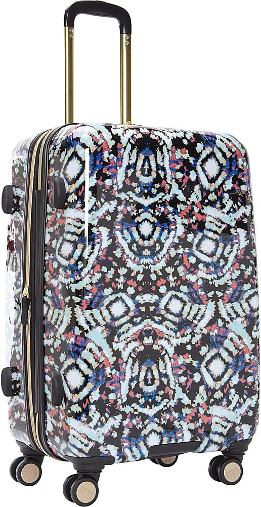 Aimee Kestenberg Women s 24 Hardside Expandable 8-Wheel Spinner Checked Luggage, Pink Tie Dye