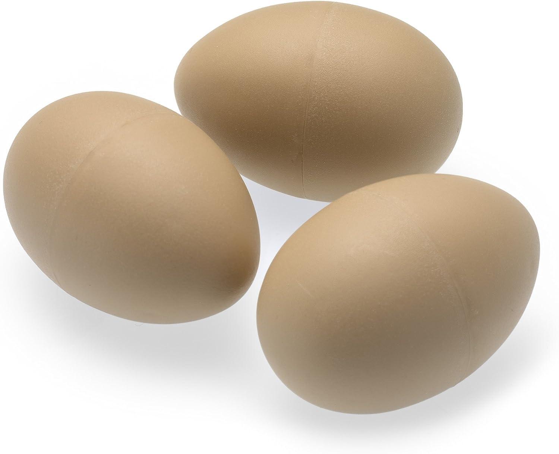 Erzatz Eggs 3 x imitación Chicken/Poultry/HENS Huevos - Ponderado para sentirse Real - Plástico/Dummy/Fake/Egg/Free Range