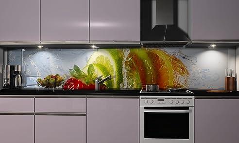Küchenrückwand-Folie Gesunde Frucht Klebefolie Spritzschutz Küche ...