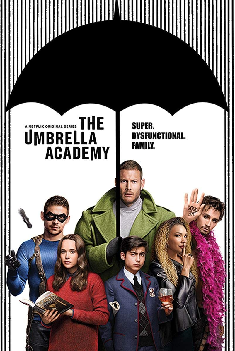 Close Up Poster The Umbrella Academy - Super Dysfunctional Family ...