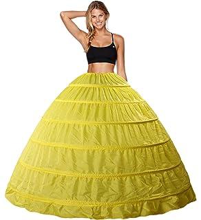 Babydress Enagua Aros Enaguas Enteras Crinolina 6 Aros para Mujer Faldas Vestidos para Mujer Underskirt Cancan