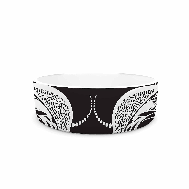 KESS InHouse Maria Bazarova Two Women Black White Pet Bowl, 7