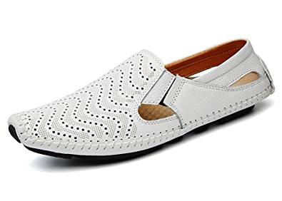 Noblespirit NSMLFS9632 - Mocasines para Hombre, Color Blanco, Talla 42: Amazon.es: Zapatos y complementos
