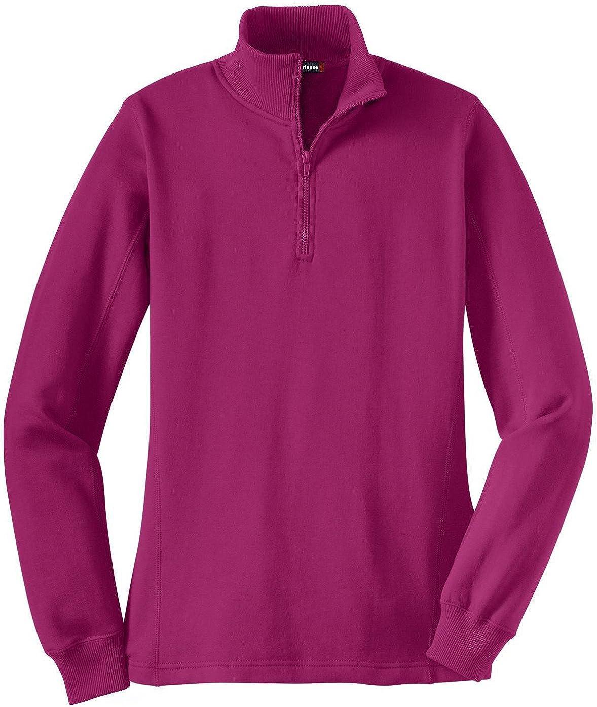 Mafoose Womens 1//4 Zip Sweatshirt