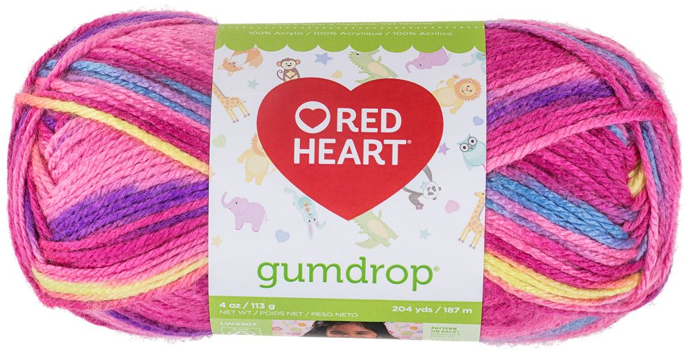 Coats Yarn Red Heart Gumdrop Yarn, Cherry