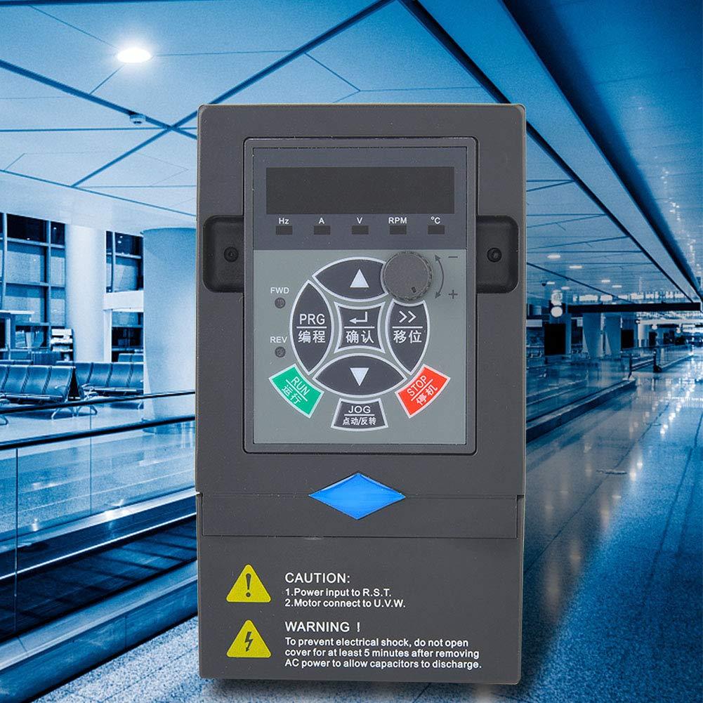 380V 2.2KW VFD Frequenzumrichter,3 Eingang 3 Phasen Ausgang Frequenzumrichter Universal-Frequenzumrichter PWM-Steuerung Drehzahlregler Inverter