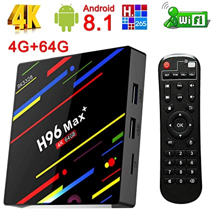 Amazon com: Yongf Android 8 1 TV Box, H96 Max+ 4G 64G Smart Android