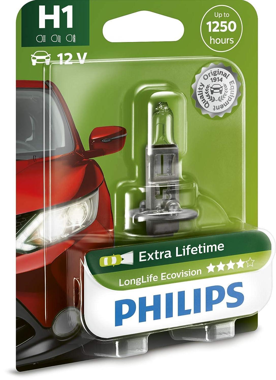 Philips H7 LongLife EcoVision 12v 4x Lifetime Car BULB Single