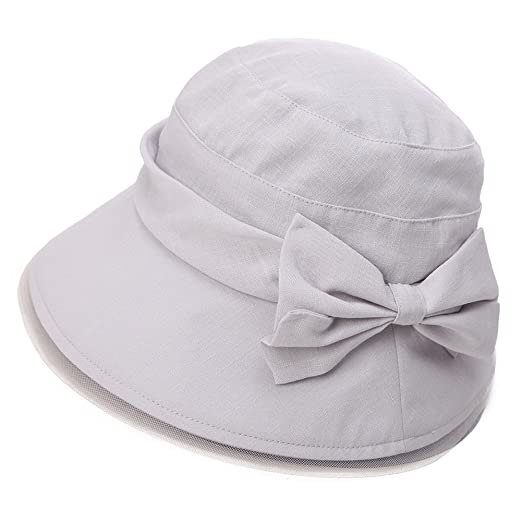 4928bbe651d SIGGI Womens Summer Bucket Boonie UPF 50+ Wide Brim Sun Hat Foldable Beach  Accessories Gray