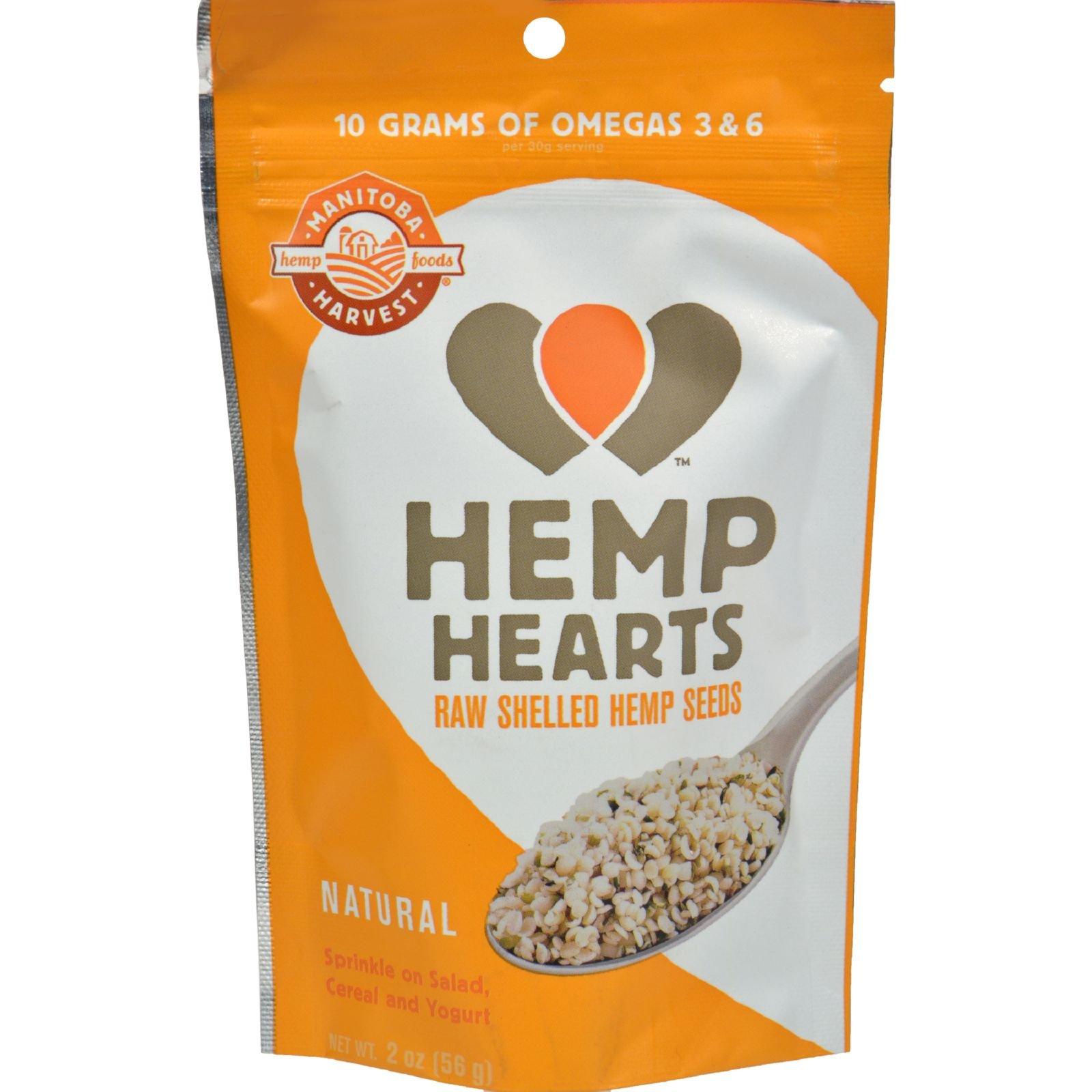 Manitoba Harvest Natural Hemp Hearts - Case of 12-2 oz