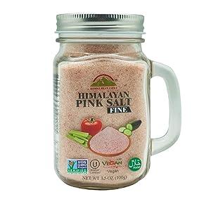 Himalayan Chef Himalayan Pink Salt- Mason Jar-17.5 Ounce