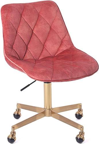 J L Furniture Modern Velvet Armless Office Vanity Desk Task Chair