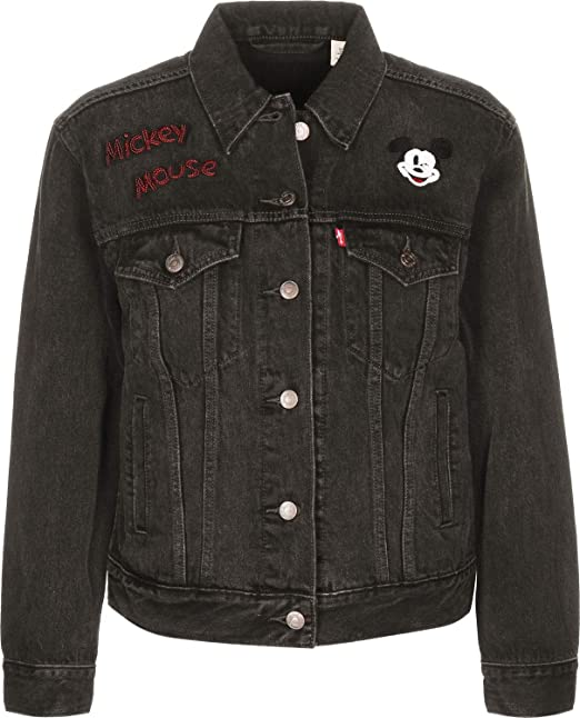 Levis® - Cazadora Levis Mickey Mouse Mujer Color: 0050 Negro Talla: Size XS