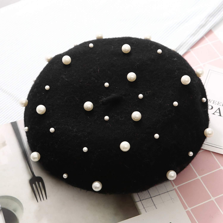 New Beret Knit Cotton Warm Flat Bead Bone Fashion Soft caps