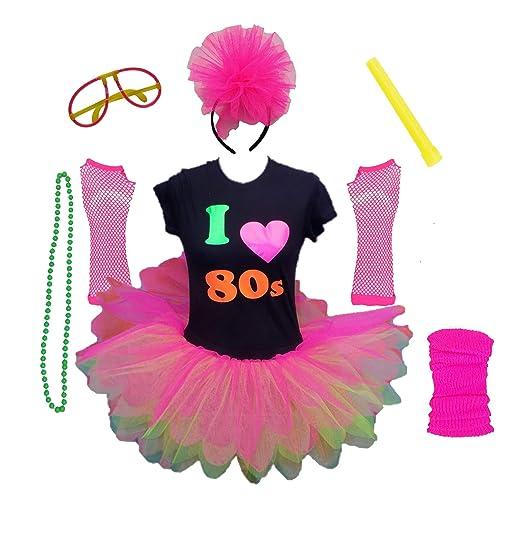 I Love the 80s Ladies Tutu Party Set - XS to 3XL