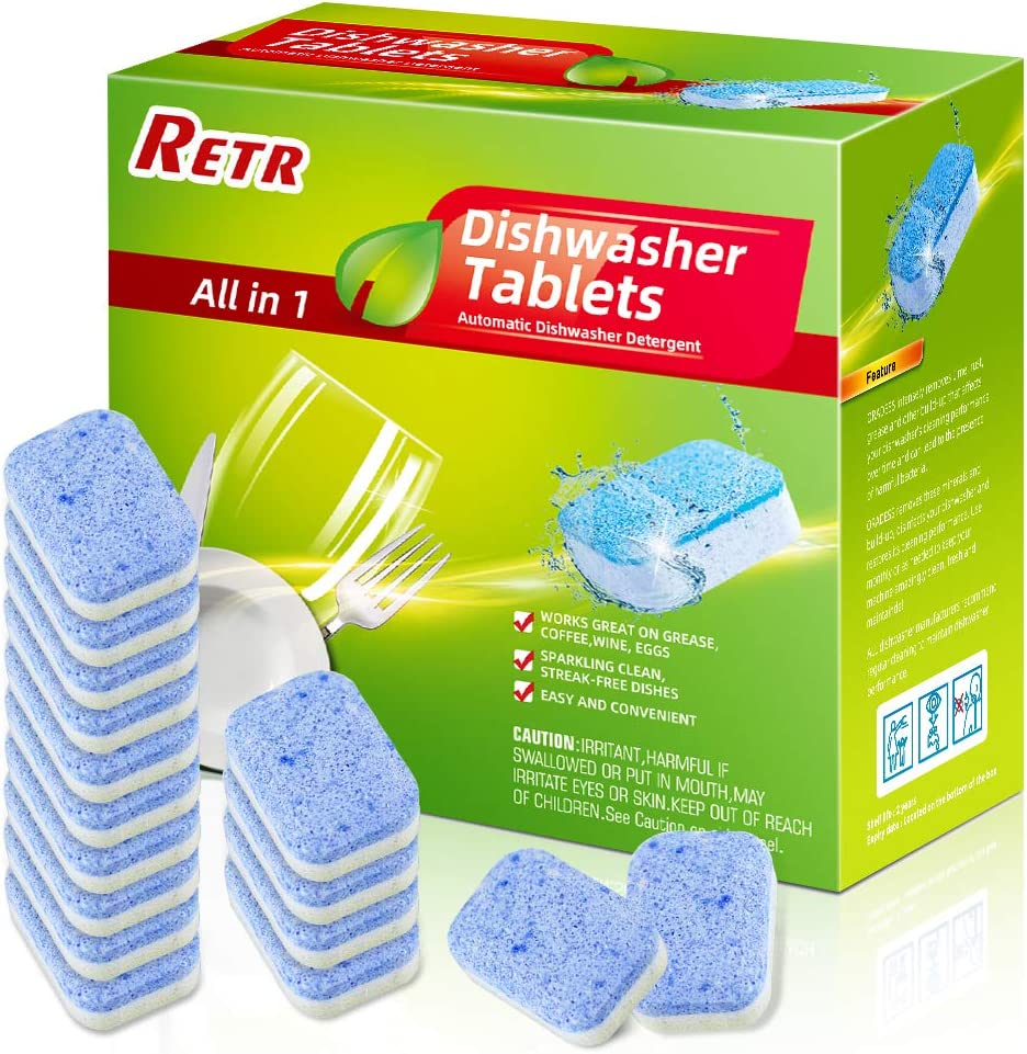 Dish Washer Cleaner,16 Tablets,Deodorizer and descaler,Cleaning Deep Remover,Cleaning Supplies for Kitchen,High Efficiency Keep Dishwasher Fresh