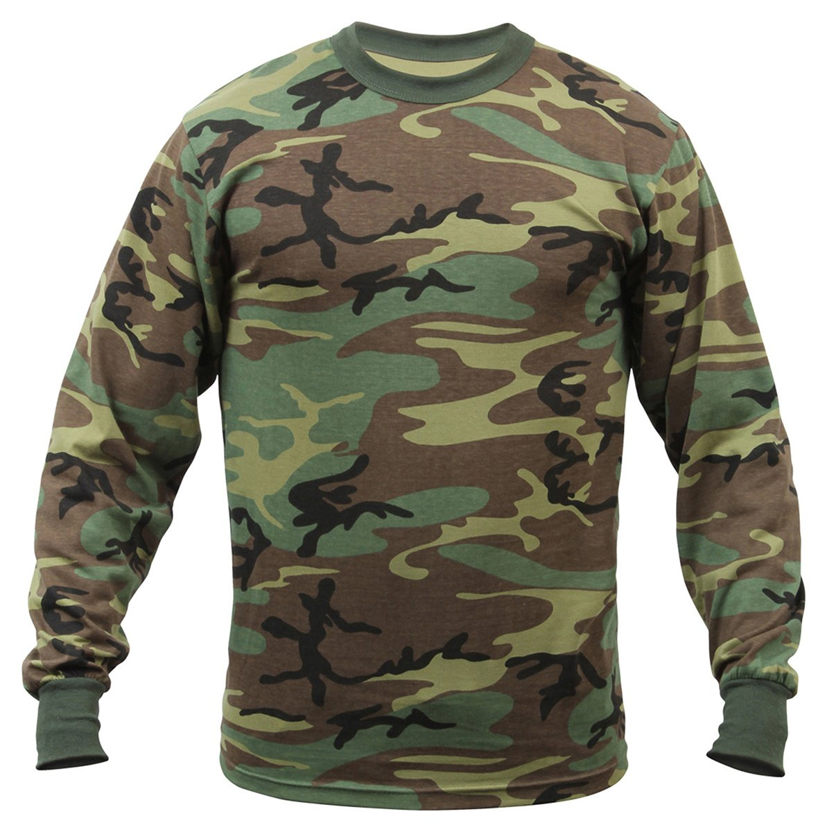 Rothco Long Sleeve T-Shirt, Woodland Camo, Medium 6778MED rco-6778_Camo_MED