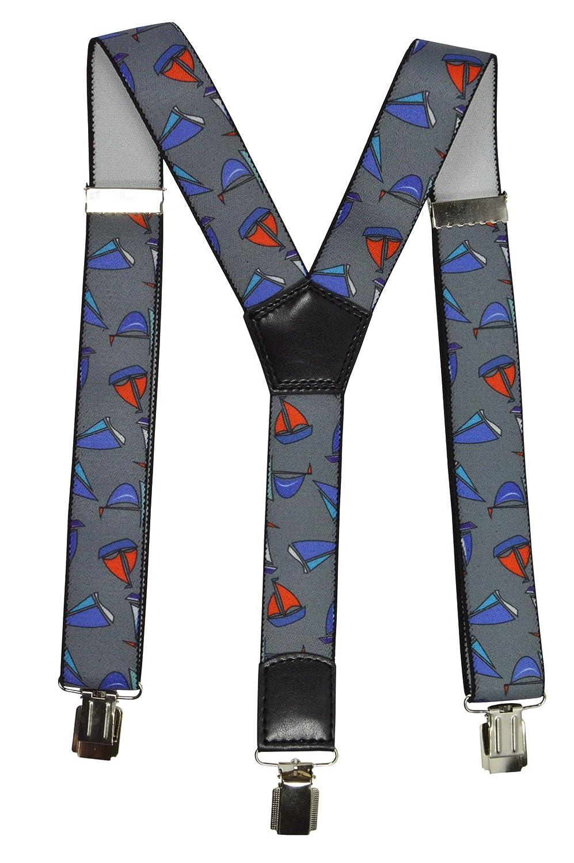 Olata Bretelle Elasticizzata per Bambini/Junior 1-12 Anni, Y' Clip design, Barca a Vela Modello Y' Clip design