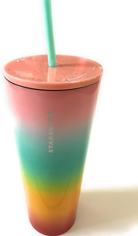 Starbucks Rainbow Stripe Cold Cup Straw Summer 2019