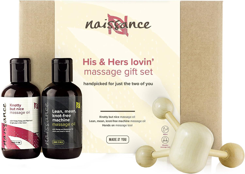 """Naissance """"His&Hers lovin´"""" Set Regalo Aceite de Masaje Ella y Él para cualquier ocasión - Romántico y Sensual"""