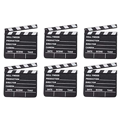 Rhode Island Novelty 7 Inch x 8 Inch Hollywood Movie Clapboard, Six Per Order: Toys & Games