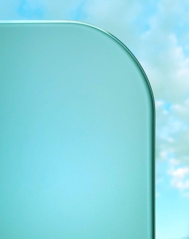 Kanten geschliffen und poliert. Zuschnitt bis 40 x 60 cm 400 x 600 mm 4mm mit runden Ecken bis 200 x 300 cm Satinato//Milchglas//Mattglas: mattierte Glasplatten nach Ma/ß