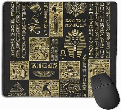Alfombrilla de ratón de Piel Negra con símbolos y ...