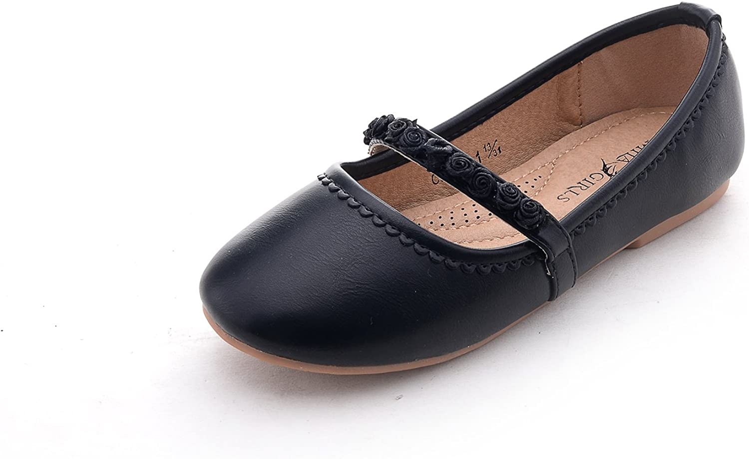 A-CANDY01 Black T7 Ashley A Collection Casual Slip ON Ballerina Flat Shoes
