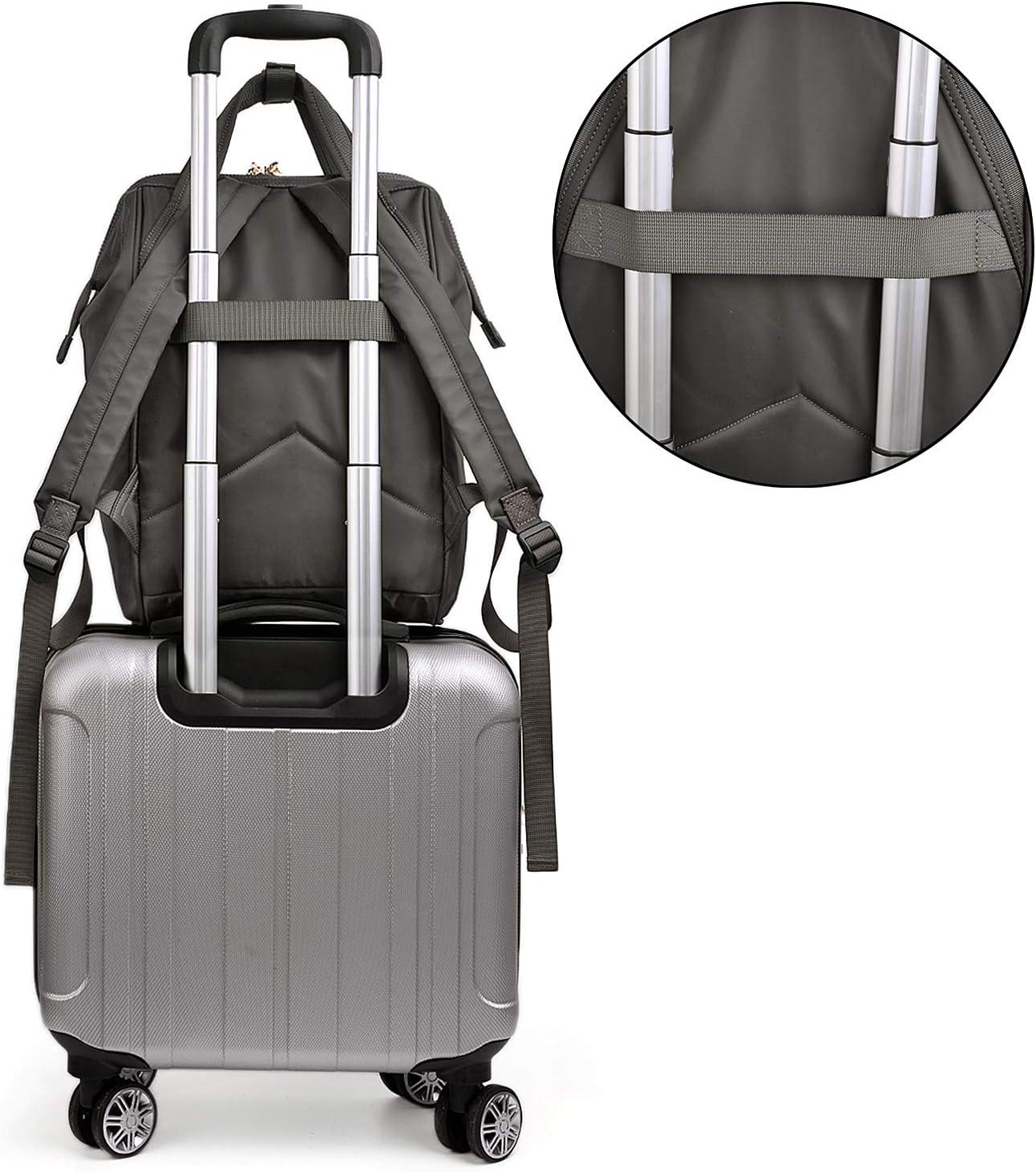 UTO Unisex Anti-Theft Travel Backpack School Bag Water Resistant Lightweight Nylon Grey