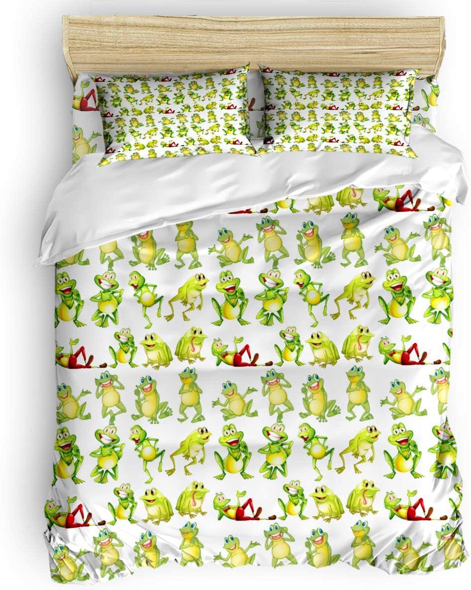 danhongi Japan Maker New 4pcs Bed Sheet Set for Kids service Girls Di in Cute Frogs Boys