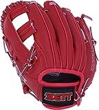 ゼット(ZETT) 少年野球 軟式 グローブ オールラウンド 初心者用 衝撃吸収パッド付き 9.5インチ (幼児用) レッド BDG2212