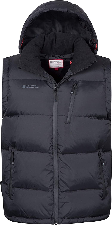 Mountain Warehouse Doudoune sans Manches Frost Extreme Homme Résistante à l'eau, Zips imperméables & Doublure résistante au Duvet Idéale pour