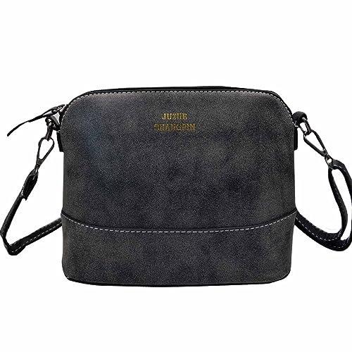 c5b33f76eb99 Amazon.com  Felice Womens Small Satchel Handbag Purse Nubuck Suede Shoulder  Bag with Zip-Top (black)  FELICE US