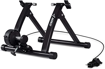 Magnetic Exercise Bike Bicycle Trainer Stand 7 Levels Resistance Indoor Black
